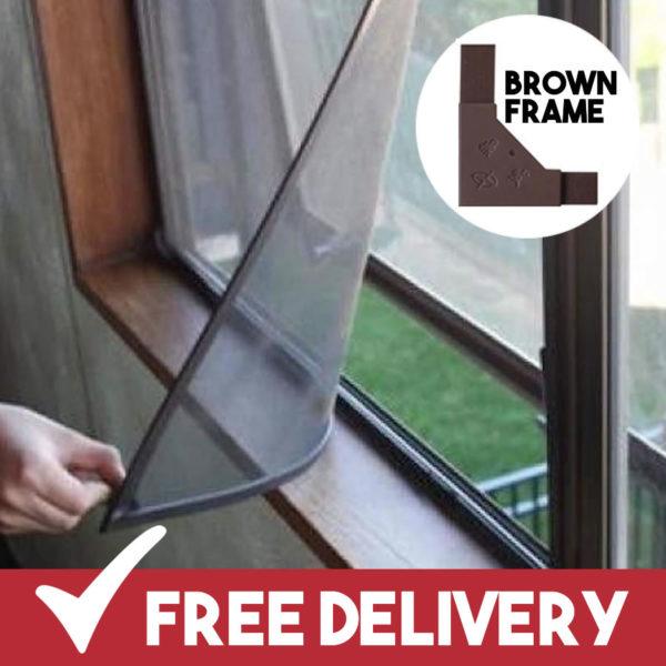 brown frame magnetic flyscreens buy online uk